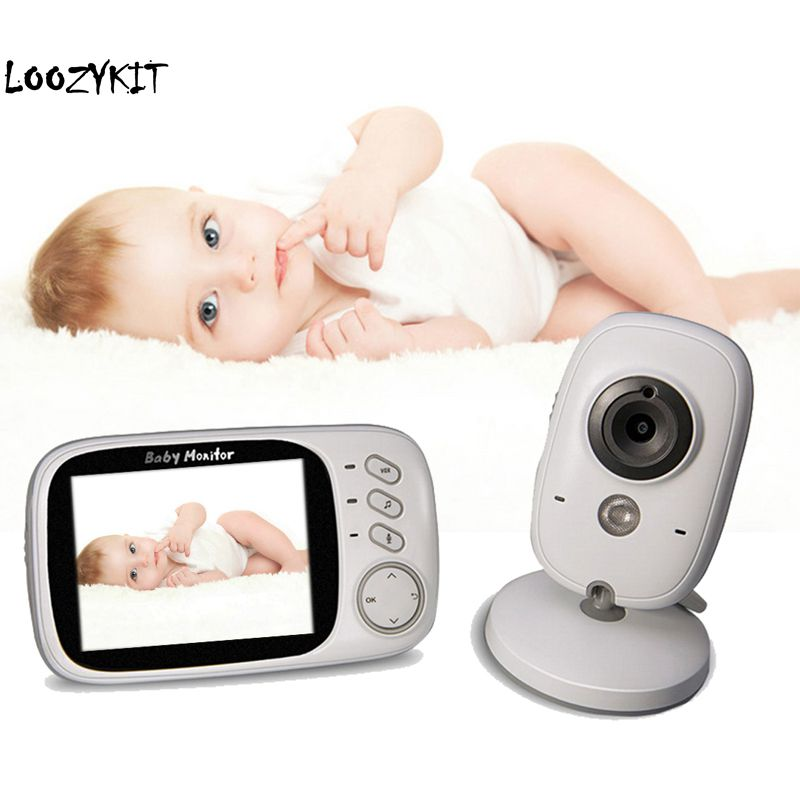 Loozykit 3.2 Inch Wireless Video Baby Monitor High Resolution Nanny Security Camera Night Vision Temperature Monitoring 2 WaysLoozykit 3.2 Inch Wireless Video Baby Monitor High Resolution Nanny Security Camera Night Vision Temperature Monitoring 2 Ways
