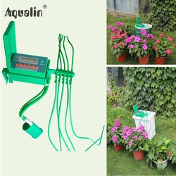 Автоматический микро дома капельного полива наборы системы спринклерной с умный контроллер для сада, карликовое дерево в горшке применени...