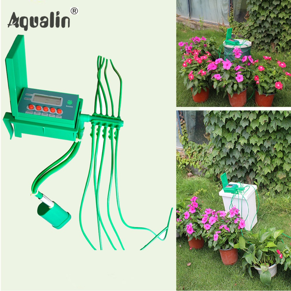 Automatic Micro Home  Drip Irrigation Watering Kits System Sprinkler with Smart Controller for Garden,Bonsai Indoor Use #22018 albohes smart sprinkler controller