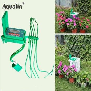 Automático Doméstico Micro Gotejamento Sistema de Rega Kits de Irrigação Por Aspersão com Controlador Inteligente para o Jardim, Bonsai Indoor Use #22018