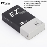 RC1005RLB EZ Revolution Cartridge Tattoo Needles 10 Bugpin Medium Taper Tattoo Needles For Cartridge Tattoo Machine