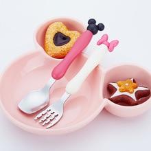 2 pcs Baby Spoon+ Fork Set