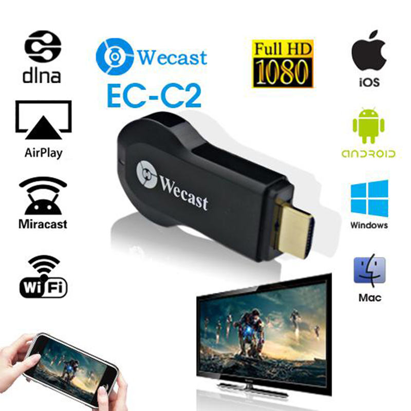 New EZCast Miracast Dongle Wifi Streaming To TV Wireless Display For Google Chromecast Hdmi 1080p Media Airplay Streamer, Hot !