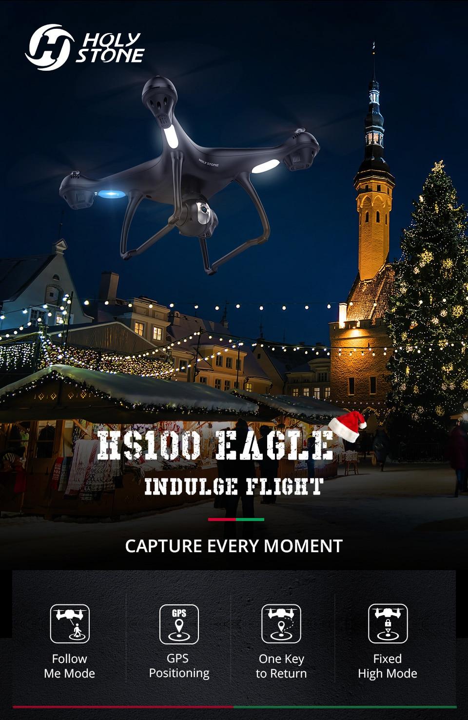 [EU USA JP Stock] Holy Stone HS100 GPS Selfie FPV Drone 500m Flight Range 2500mAh 1080P 7P Camera RC Quadcopter No Tax to EU 5