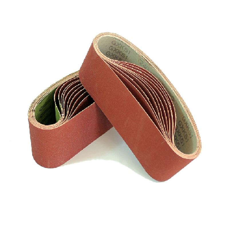 10 pieces/lot 610*100mm Aluminium Oxide sanding sand belt for belt sander 4 inch
