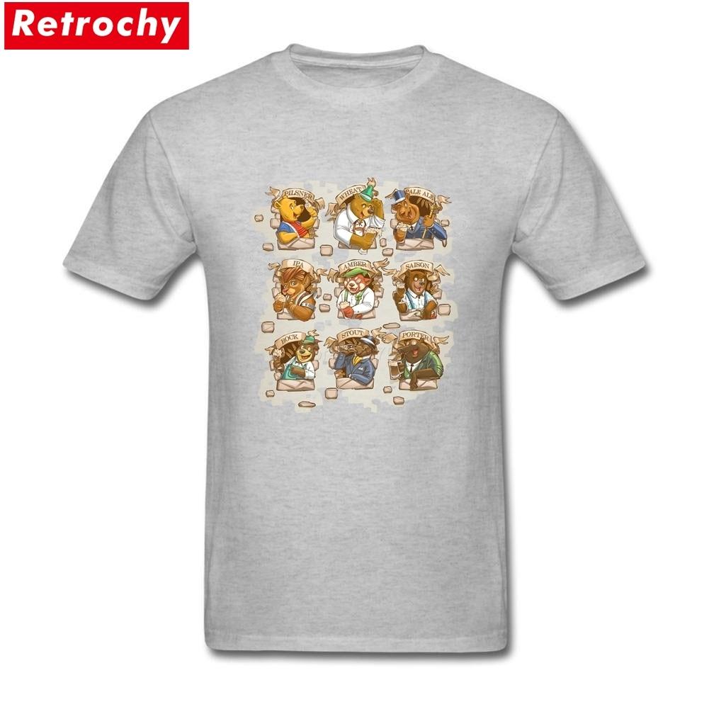 Brewmasters Merchandise T-Shirt Short Sleeve Mens 100% Cotton Plus Size Tees