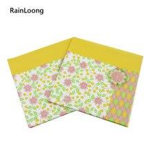 [Rainloong] impresso recurso flor guardanapo de papel para festas & festa fornecimento decoração tecido servilleta 33*33cm 1 pacote