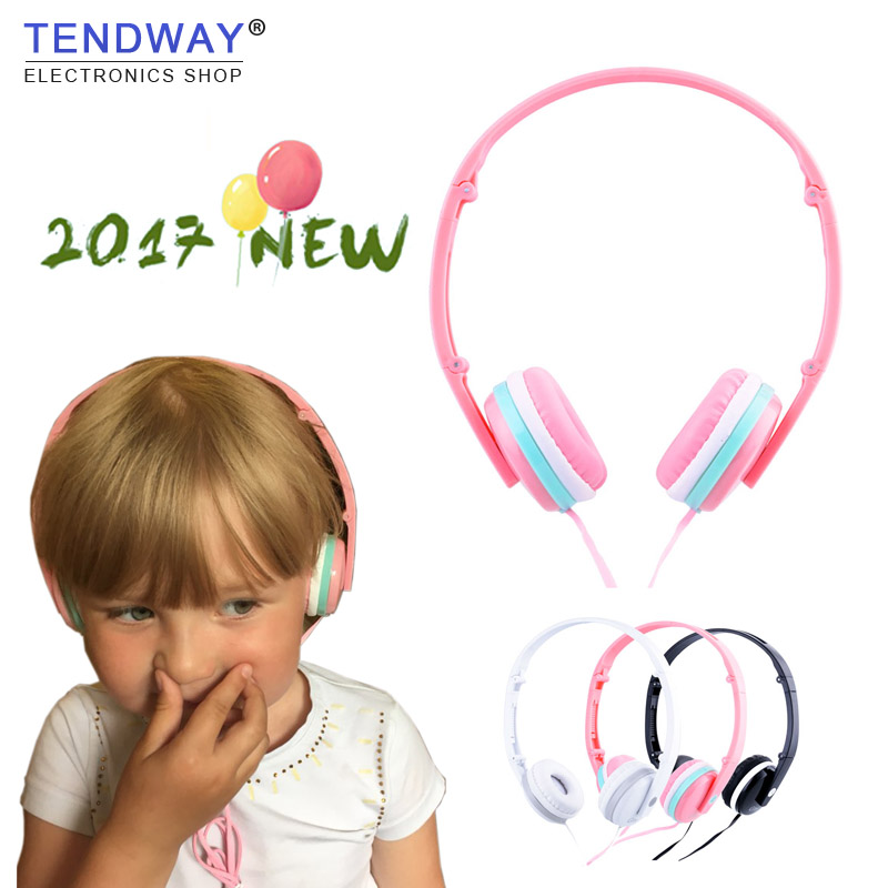 Girl Colored Cute Headphones Foldable Headset Pink Earphones With Mic for Xiaomi Kids Student Birthday Gifts Fone De ouvido kz headset storage box suitable for original headphones as gift to the customer