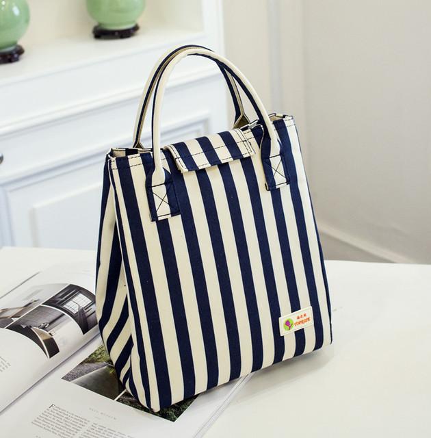 Striped Waterproof Insulation Bag