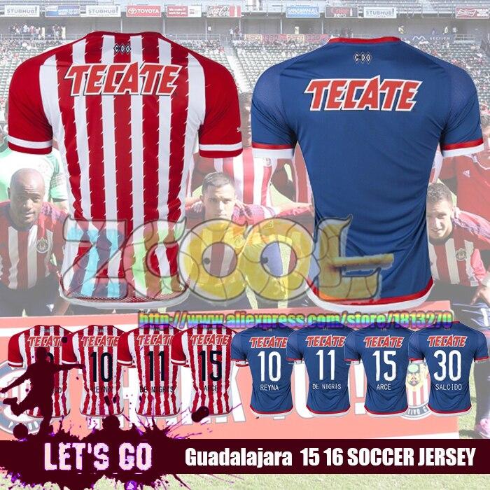 lowest price 85adb 09404 NEW! Camisa Chivas Guadalajara 2016 home red blue Soccer ...