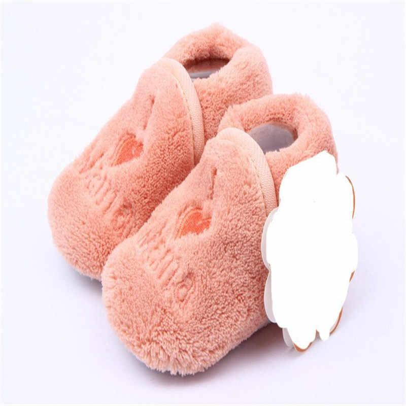 Baby Eerst Wandelaar Meisje Jongen Coral Fleece Booties Sokken Schoenen Slippers Geboren Peuter 0-12M Nieuwe