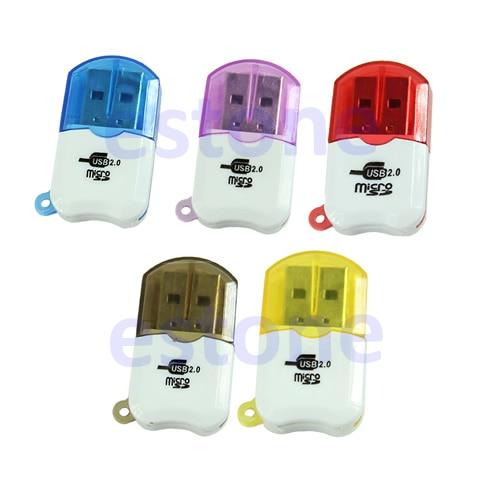 New Mini Slim Small USB 2.0 Professional Micro SD TF T-Flash Card Reader Writer
