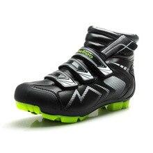 Tiebao/Мужская обувь для велоспорта; профессиональная обувь для горного велосипеда; мужские велосипедные ботинки; велосипедная обувь с нейлоновой подошвой из стекловолокна; зимние ботинки для велоспорта