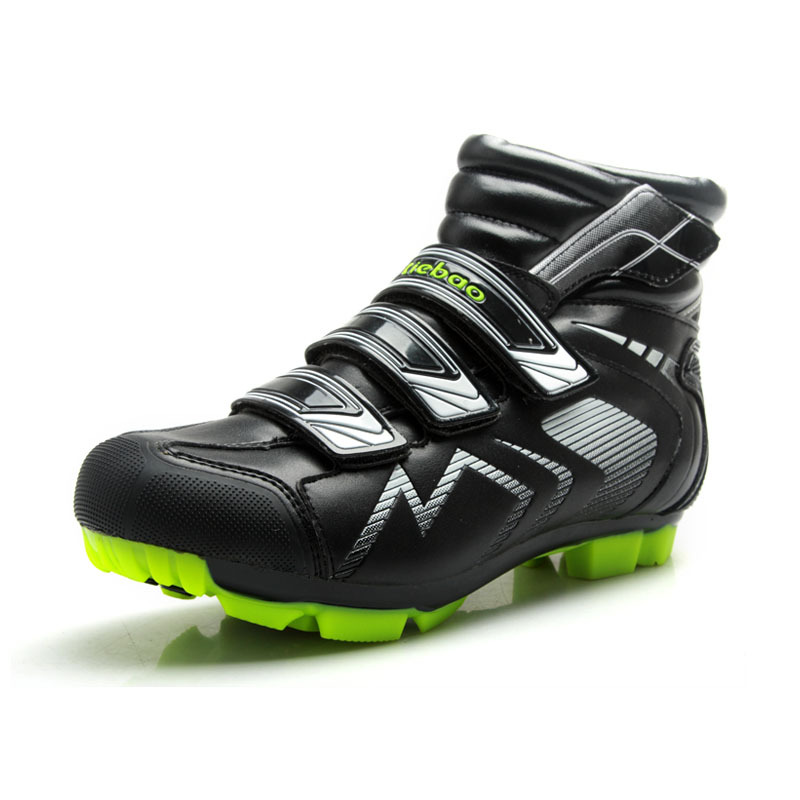 Tiebao  Cycling shoes men's professional MTB shoes for man bicycle boots,Bike Shoes Nylon-fibreglass Soles winter cycling boots tiebao professional fg