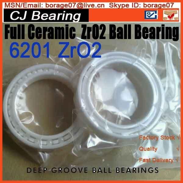 Full ceramic ball bearing ZrO2 6201 12x32x10 mm 61916 6916 zro2 full ceramic bearing 80x110x16mm