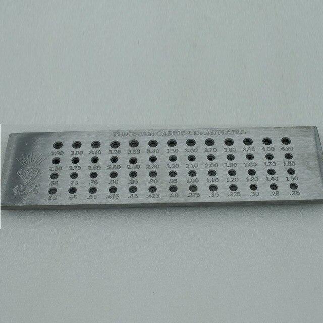 52 Holes Round Draw plates 0.26-4.1mm Tungsten Carbide Drawplates
