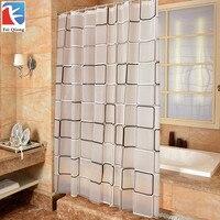 180x180 CM Waterproof Shower Curtain With Hook Plaid Bathroom Curtains High Quality Bath Bathing Sheer For