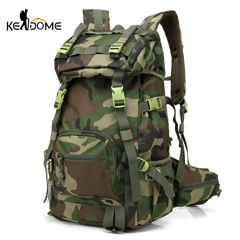 40L Tactical Military Backpack Army Green Camouflage Outdoor Sports Bags Women Men Trekking Camping Fishing Rucksack XA205WD outlife new style professional military tactical multifunction shovel outdoor camping survival folding spade tool equipment