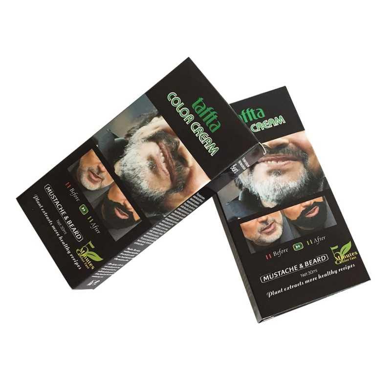 Мужской крем для бороды, быстрый цвет, натуральный черный стойкий оттенок бороды, крем для мужчин, усы и краска для бороды