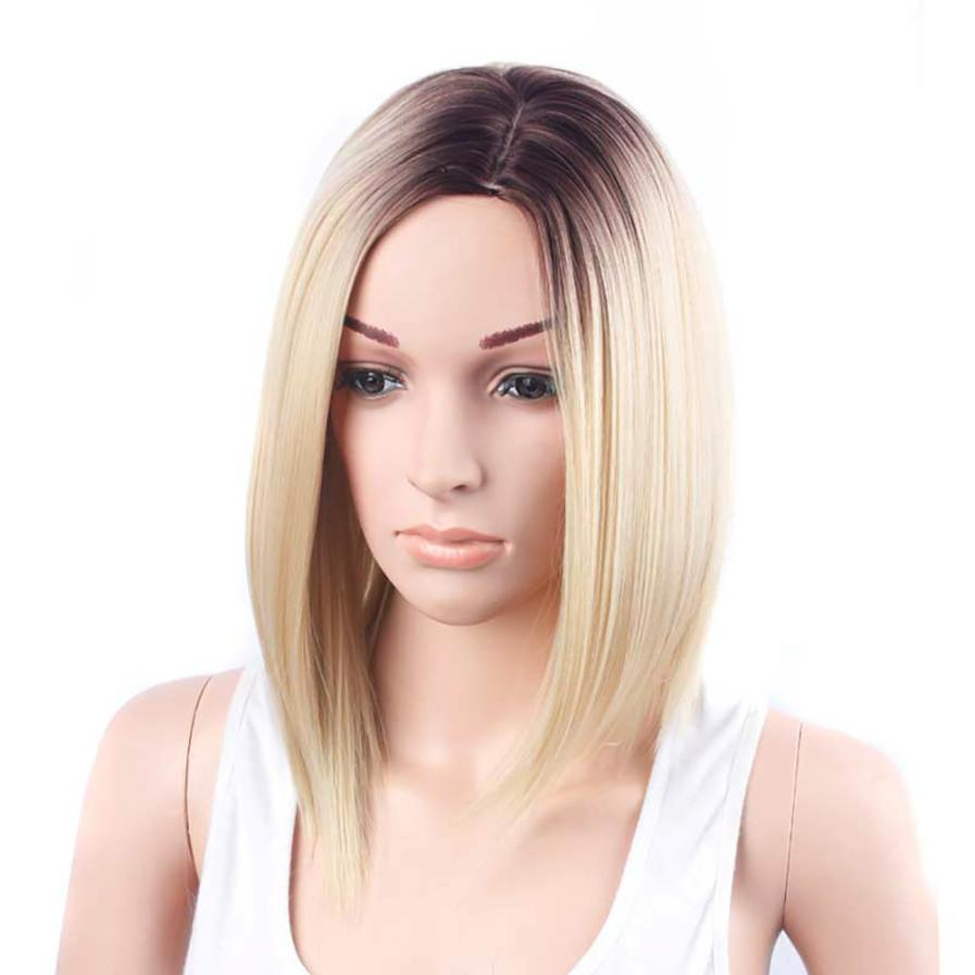 Gold Hair Lace Front Wig Long Straight Synthetic Wigs For Women Heat Friendly 5U1020 28inch straight synthetic wigs for black women anime cosplay wigs long black wigs heat resistant synthetic hair pixie cut wig