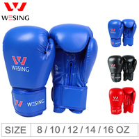 Boxing Gloves Muay Thai Training Professional Sparring Punching Bag Mitts kickboxing Fighting 8-16oz