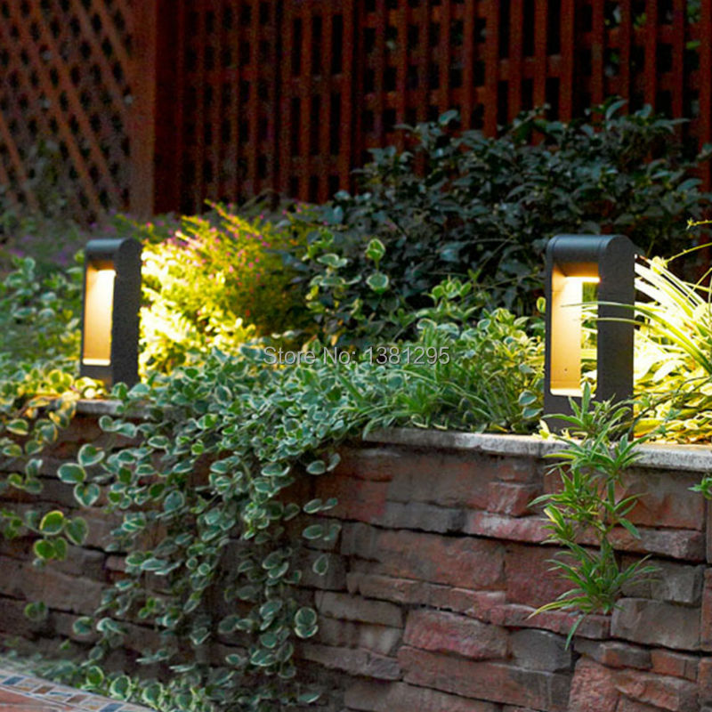 aluminum alloy outdoor led garden bollard path lights 6w ip54 walkway exterior lawn lamps led landscape - Bollard Lights