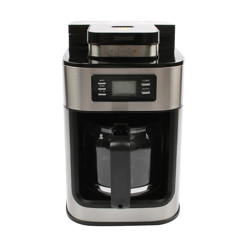 DMWD 1.2L Electric Coffee Machine American Coffee Maker Automatic Coffee Grinder With Pot For Office Party Digital Display 220VDMWD 1.2L Electric Coffee Machine American Coffee Maker Automatic Coffee Grinder With Pot For Office Party Digital Display 220V
