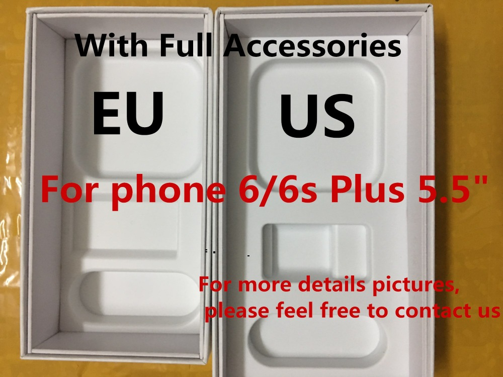 20pcs High Quality US EU Version Phone Packaging Packing Box Case For iPhone 6 6s plus
