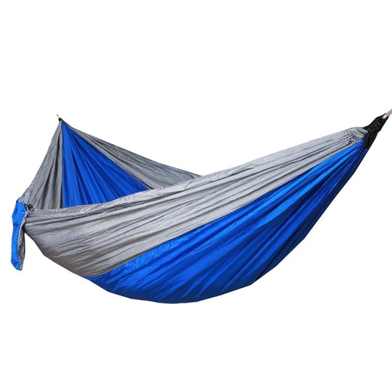 Portable Hammock Outdoor Double Parachute Cloth 2 Person Hamaca Hamak Rede Garden Hanging Chair Sleeping Travel Swing
