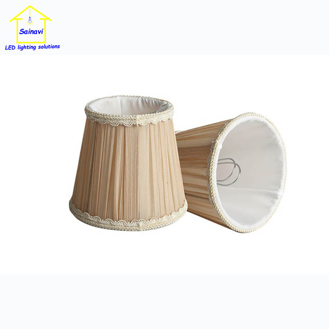 2 pcs E27 E14 handmade  lampshade clip medium for chandelier pendant wall candle lamp fabric cover Rustic Country retro