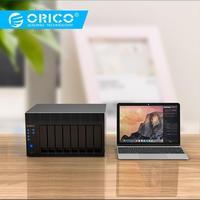 ORICO NAS 2.5/3.5 นิ้ว 8-Bay Network Attached Storage RAID ฮาร์ดไดรฟ์ Ark สนับสนุนสำหรับ Windows /Linux ไม่รวม SSD/HDD