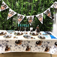 Disney Pirates of the Caribbean kids Party Decorations Baby Shower Happy Birthday Supplies Kids Decoration