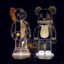 5 colors Cartoon LED Light 3D Stereo Lamp KAWS Bearbrick OriginalFake Dissection Pinocchio PVC Action Figure Model Toy G686(China)