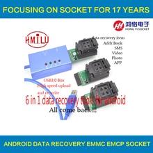 EMMC153 169 EMCP162 189 EMCP221 EMCP529 prise 6 en 1 outils de récupération de données pour android téléphone