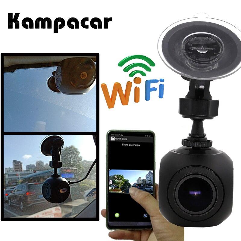 Kampacar HD Caché Mini Caméra Wifi Rétroviseur Dvr Tiret Registraire Caméras De Voiture Registrator Dashcam Vidéo Numérique Enregistreur Auto Dvr