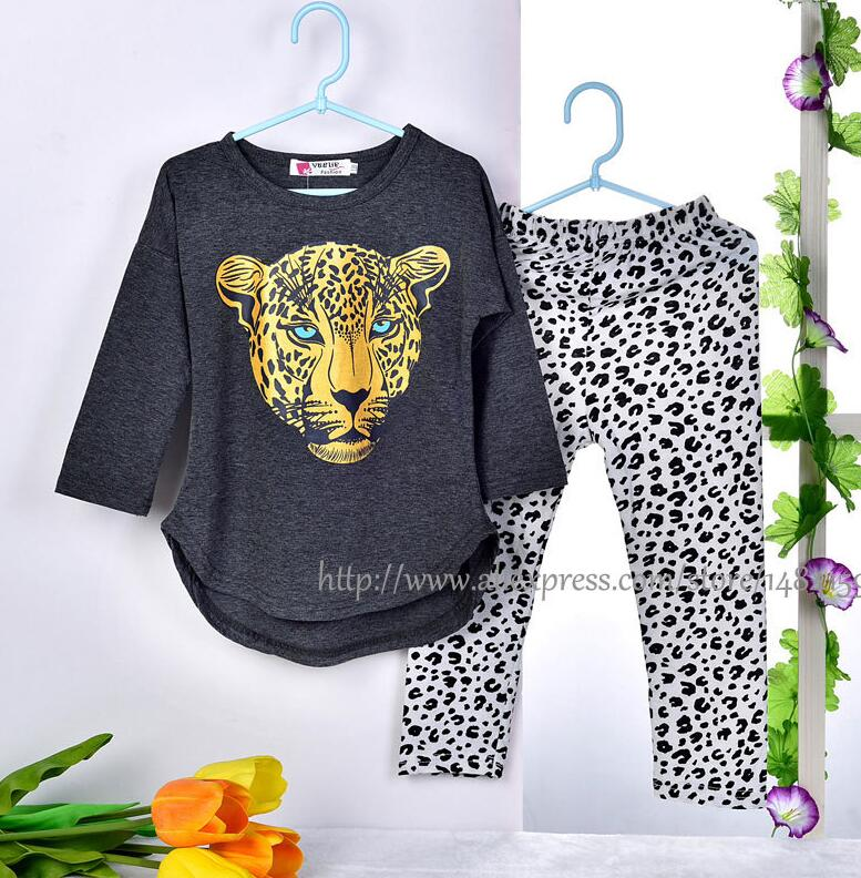 CNJiaYun Girls apģērbu komplekti Toddler Leopard Pattern Girls - Bērnu apģērbi - Foto 5