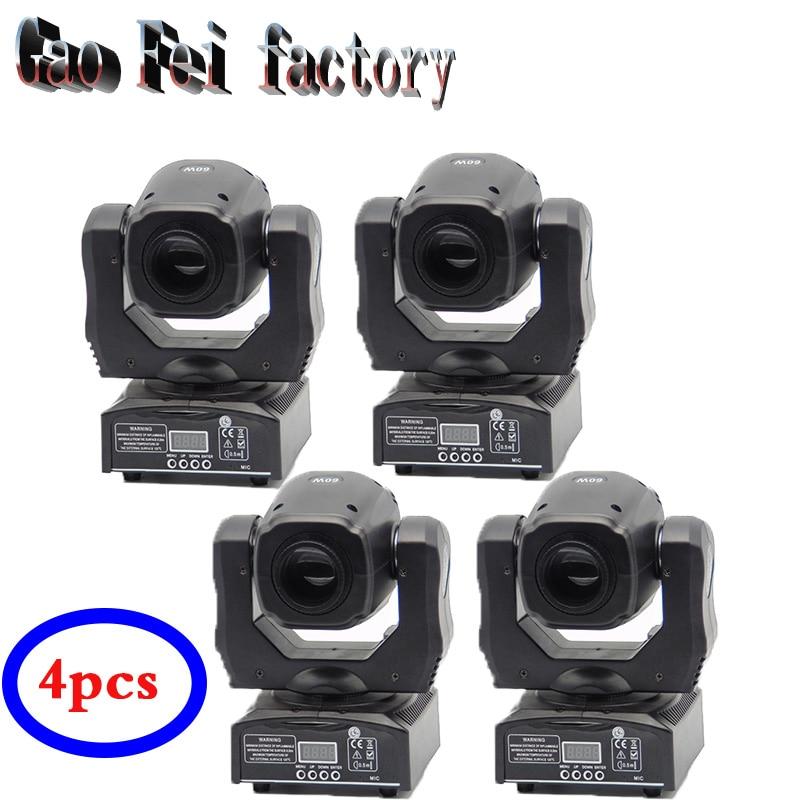 (4pcs)good price new led mini moving head light 60w dj gobo disco light equipment стоимость