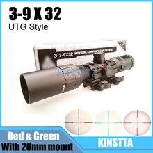 """Leapers utg 3-9×32 1 """"maol mil-dot polowanie tactical optyczny sight luneta z osłoną przeciwsłoneczną rury sprzęt myśliwski dla hunter"""