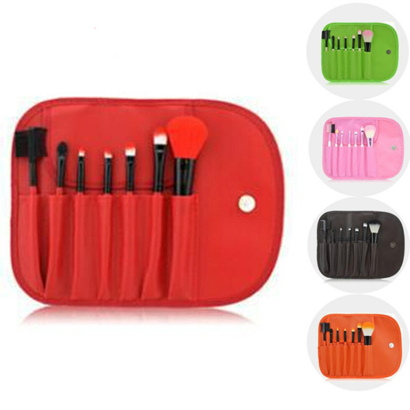 7 PCS Makeup Brushes Set Tools Make-up Toiletry Kit Wool Brand Make Up Brush Set Case Cosmetic Foundation Brush