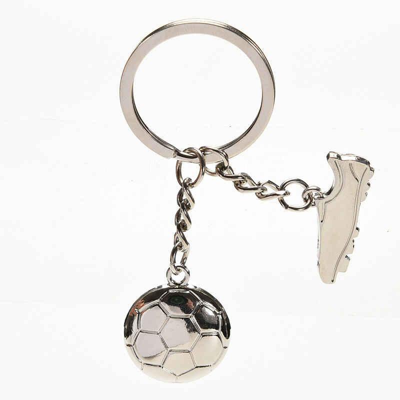 Trinkets Keychain Da Liga de metal chave da cadeia De Futebol sapatos de futebol Chave Do Carro Anéis