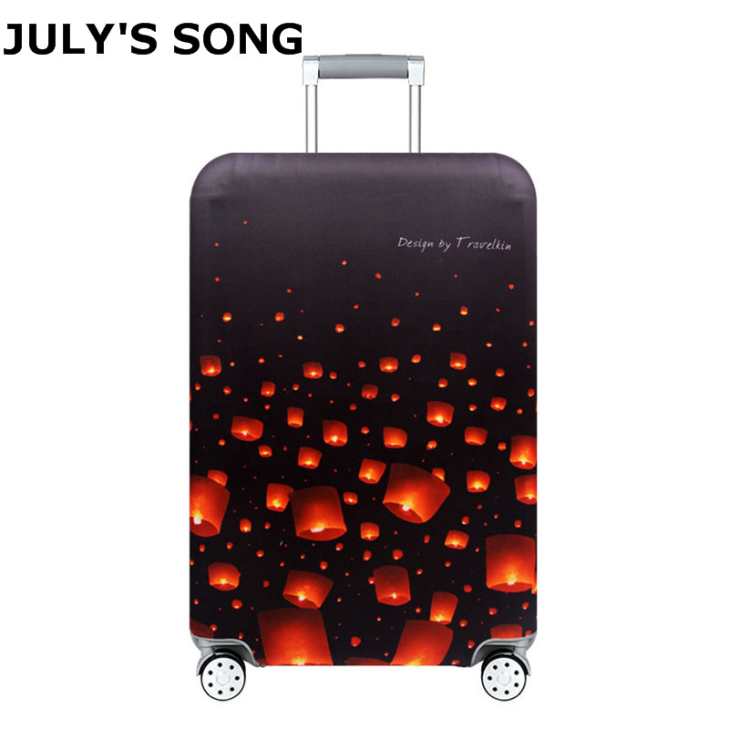 JULY'S SONG Case Cover Thick Elastic Luggage Protective Cover Zipper Suit For 18-32 Inch Trunk Case Travel Suitcase Covers Bags