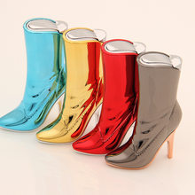 Originality Personality New Peculiar Lighter Inflation Flame High-heeled Shoes Woman Boots Funny Lighter(China)
