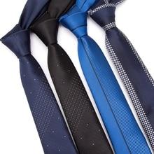 Men skinny ties 5cm Necktie luxury Mens Fashion Jacquard Neckties Corbatas Gravata shirt Business man Wedding dress Slim Tie