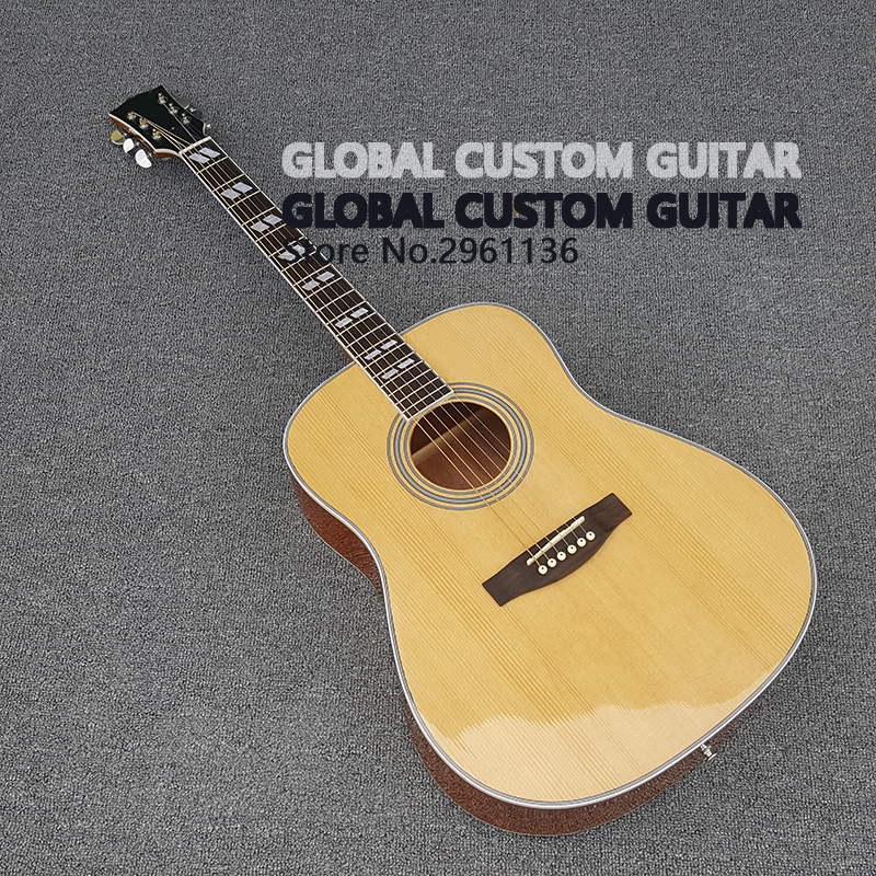 High quality Acoustic guitars J-200  Acoustic guitar with Solid Spruce top, Rosewood back and sides,Real photos,free shipping ноутбук hp 15 ba032ur a10 9600p 2 4ghz 15 6 6gb 1tb dvd r7 m440 w10 home green p3t38ea