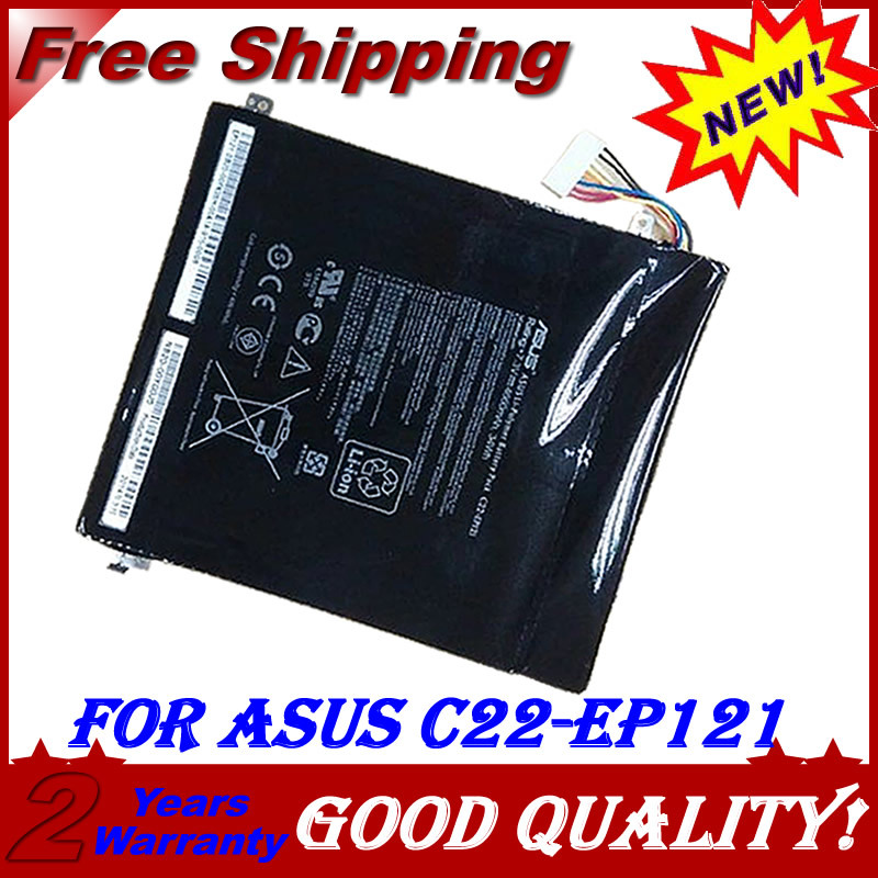 original C22-EP121 Laptop Battery For ASUS Eee Pad B121 Tablet PC Series C22-EP121 Slate EP121 7.3v 4600mah