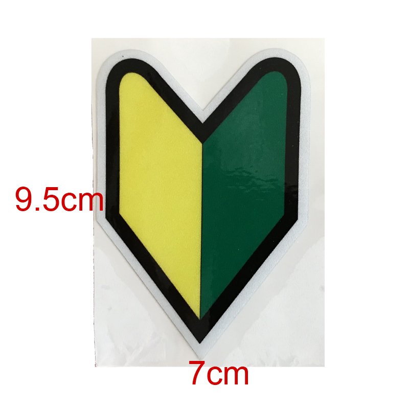 JDM High quality Novice emblem Scratch Cover Stickers 3M Material Reflective Car Sticker for Honda Toyota Nissan accessories in Car Stickers from Automobiles Motorcycles