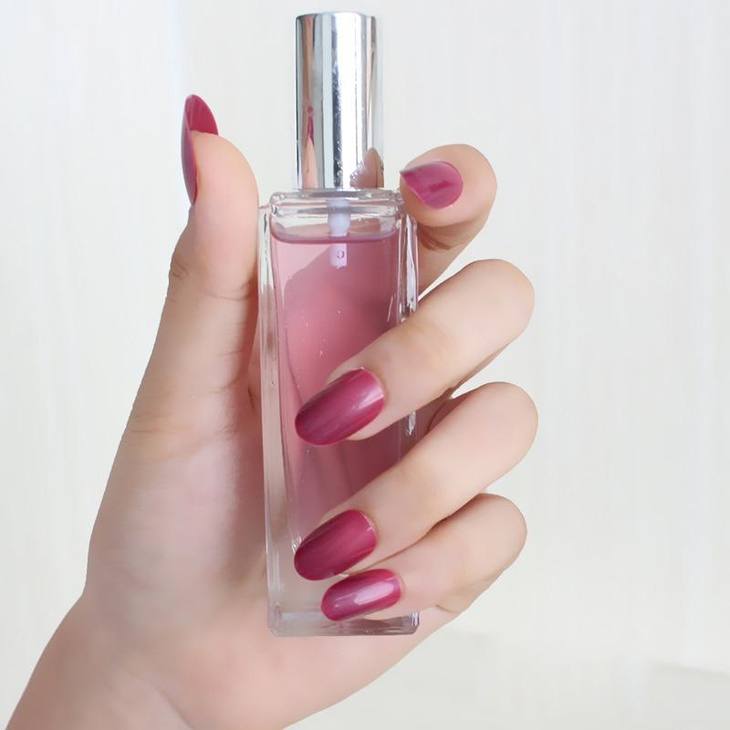 24 шт. новые модные милые конфеты овальной превосходное касание дизайн накладных ногтей Темно-красная роза 860X