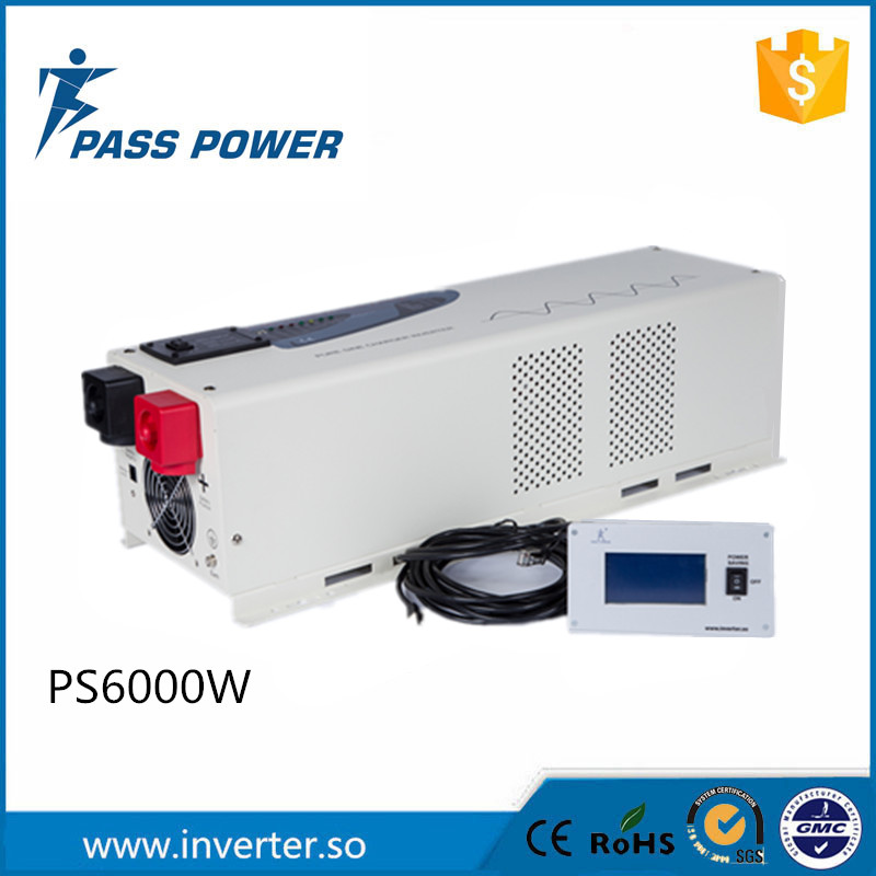 LCD Display 6000w 48v to 240V pure sine wave inverter  low frequency inverter