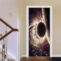 3D Space Star Door Sticker Old Door Renovation Living Room Bedroom Door Creative Home Decor Waterproof Removable Wall Sticker