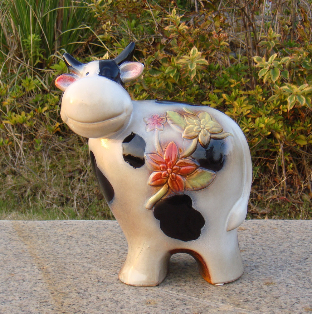 ceramic statues promotionshop for promotional ceramic statues on  - porcelain cow sculpture handmade ceramics ox statue ornament craftaccessories furnishing for birthday gift and shelf decoration